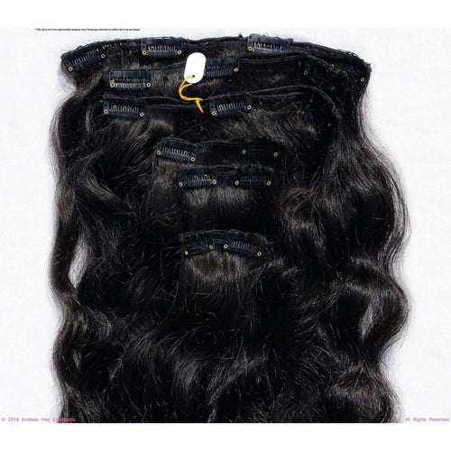Endless Hair Extensions' Clip In Brown #2 Smooth Wave with Minimal Frizzy Texture