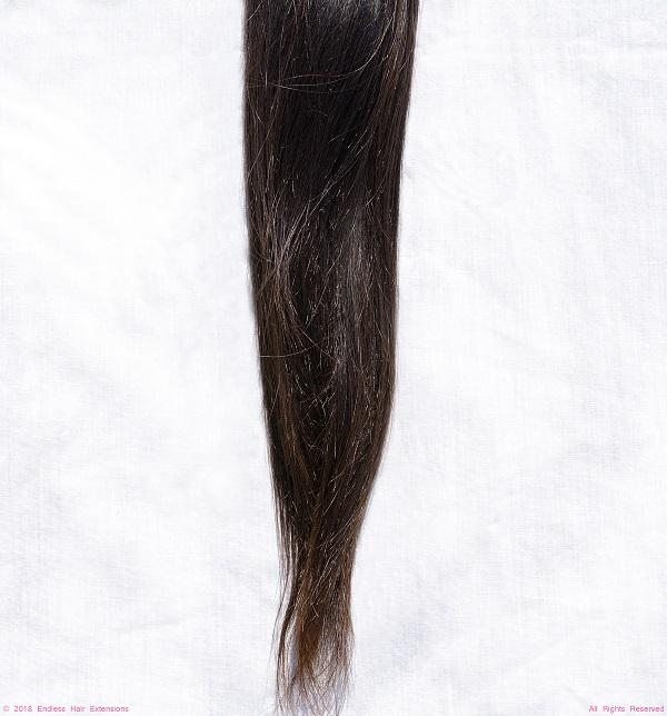 Remy Indian Hair Extensions (Brown Smooth Straight Slight Wave)