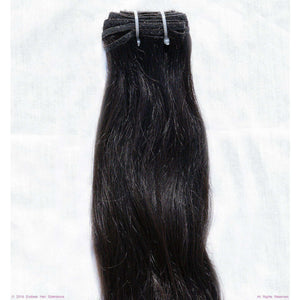 Remy Indian Hair Extensions (Black Sew In Smooth Straight Wave)