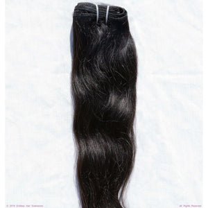 Remy Indian Hair Extensions (Black Sew In Smooth Wave Minimal Frizzy)