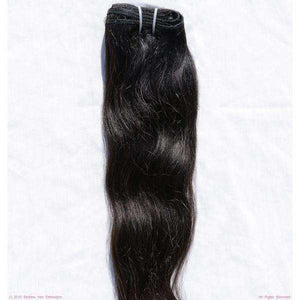Remy Indian Clip In Hair Extensions (Black Smooth Wave Minimal Frizzy)