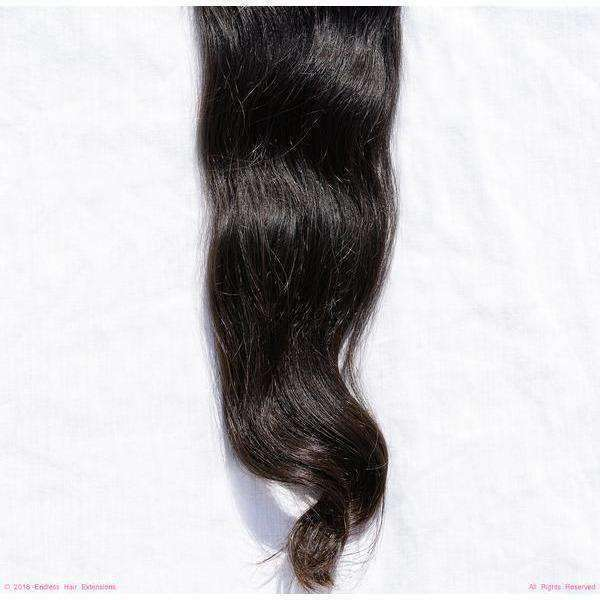 Remy Indian Clip In Hair Extensions (Brown Smooth Wave Minimal Frizzy)