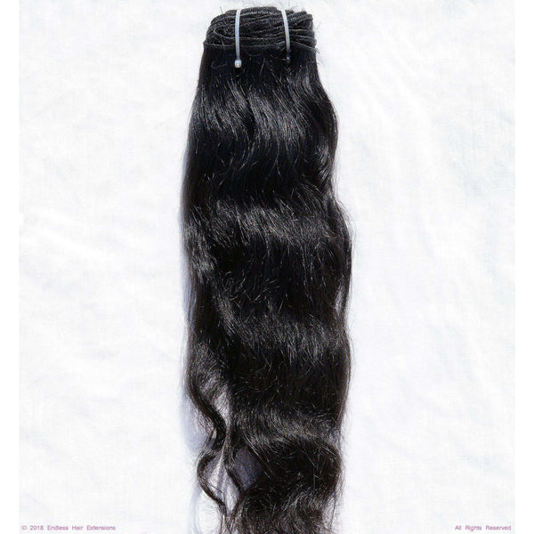Remy Indian Hair Extensions (Black Sew In Wave With Frizzy)