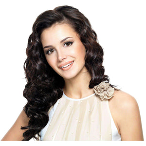 Brown Remy Indian Clip In Curly Smooth Hair Extensions - Endless Hair Extensions