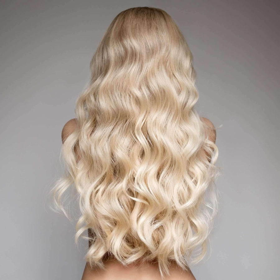 Russian Hair Extensions (Blonde Body Wave) - Hair Extensions