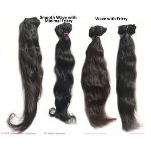 Remy Indian Hair Extensions (Black Wave Minimal Frizzy) - Endless Hair Extensions
