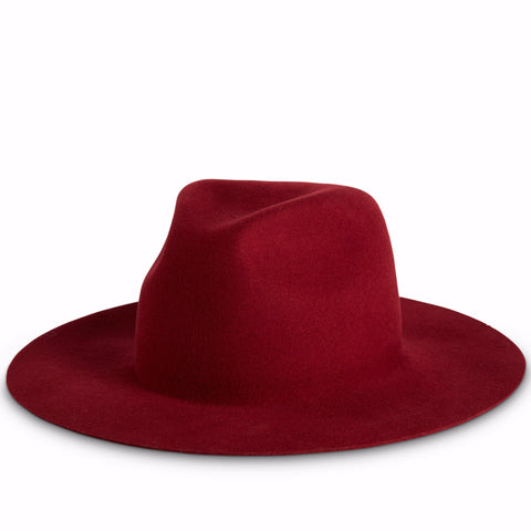 Fancy Fedora Natalina Crimson Hat