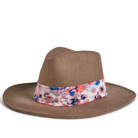 Fancy Fedora Floral Print Hat Band on Tapper Hat