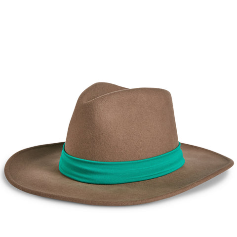 Fancy Fedora Green Hat Band on Tapper Hat