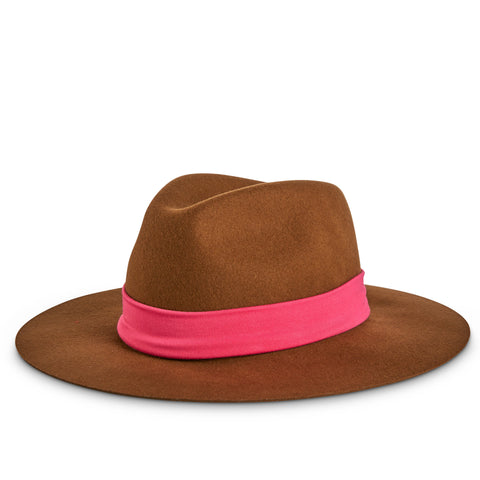 Fancy Fedora Pink Fuchsia Hat Band on Tapper Hats