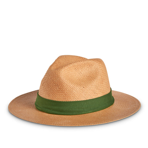 Fancy Fedora Hat Band Army Green on Thomas Hat