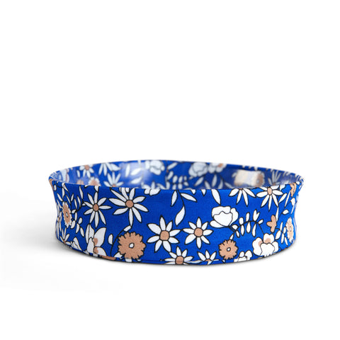 Fancy Fedora Blue Fall Floral Hat Band