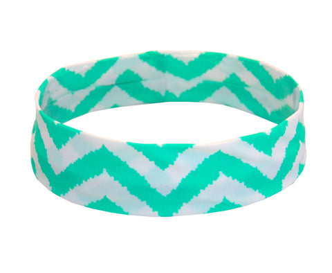 Green and White Zig Zag Fancy Fedora Hat Band