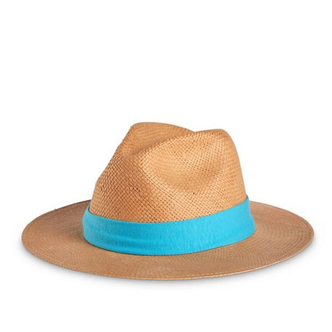 Aqua Hat Band on Thomas Hat