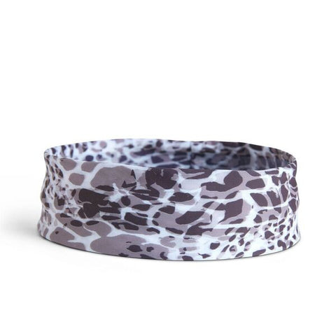 Black & Grey Animal Print Hat Band