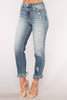 *COMING SOON* ShadesOfBlu High Rise Distressed Jeans - Medium Blue