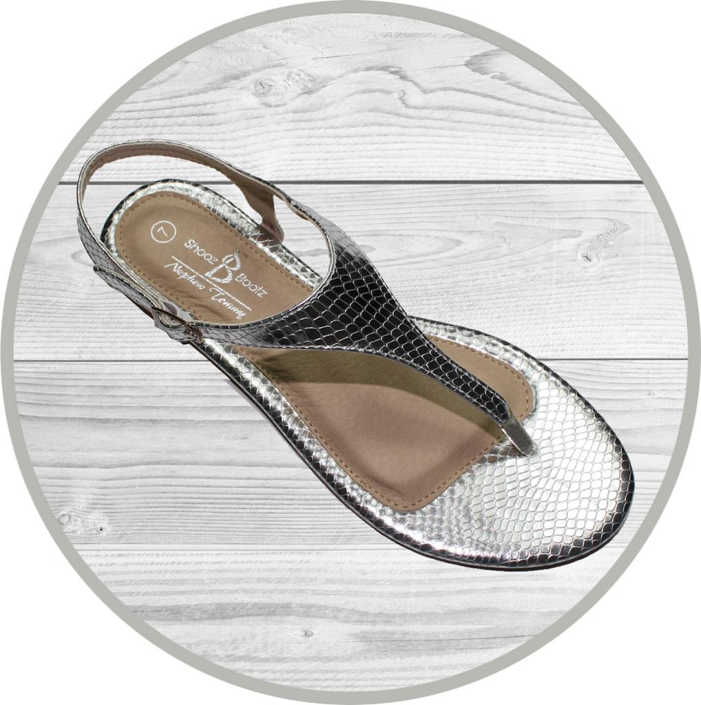 Becky Fashion Metallic T Strap Silver/Gold Sandal