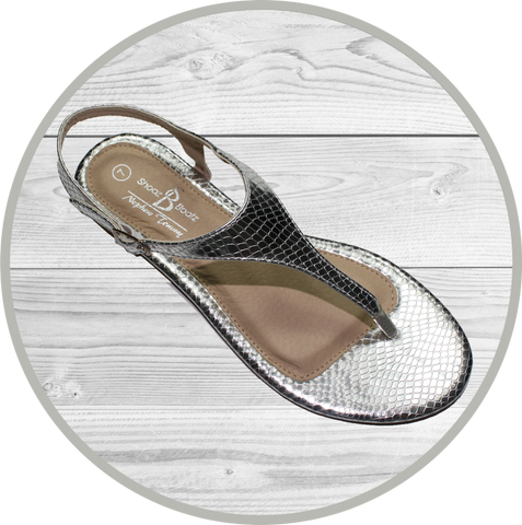 Mandy Triple Band Sling Back Beige Sandal
