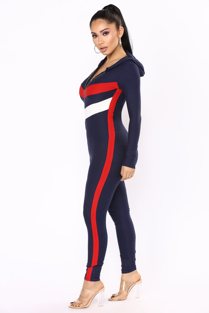 *COMING SOON* GO Team Hooded Jumpsuit - Navy