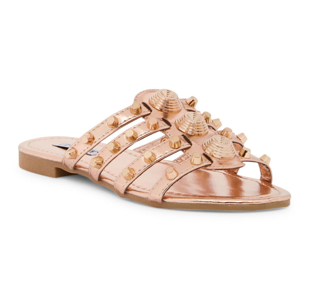 KiKI Vintage Studded Slipper Open Toe Slide Sandal Pink