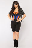 *COMING SOON*  Aerodynamic Colorblock Romper - Black/Royal