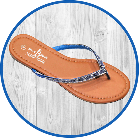 Kelly Faux Snake Salmon Thong Sandal