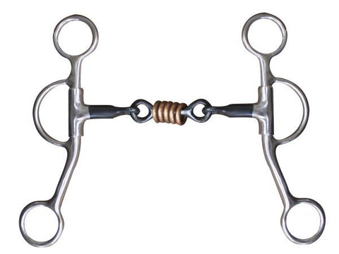 Argentine Dog Bone Snaffle With Copper Rollers