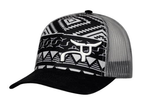 Black & Gray Aztec Snapback by RopeSmart