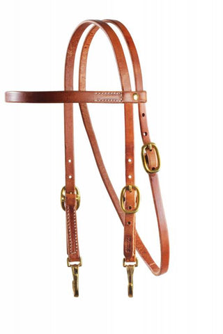 SNAP CHEEK BROWBAND HEADSTALL By Profesional's Choice