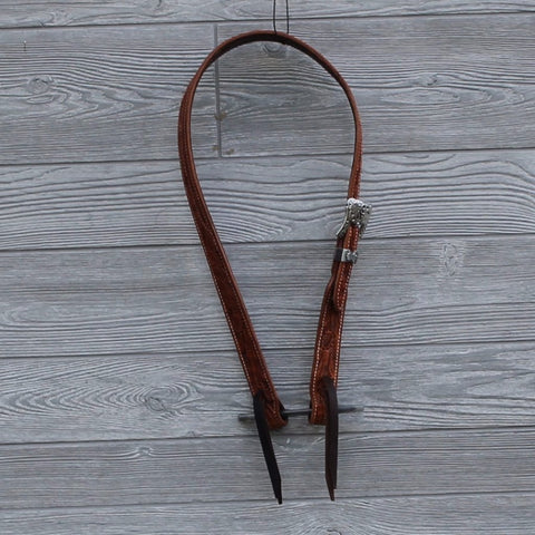 Stamped Slit Ear Headstall by Cactus Saddlery