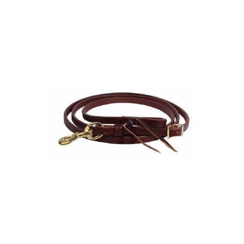 RANCH HEAVY OIL HARNESS LEATHER ROPING REIN by PROFESSIONAL'S CHOICE