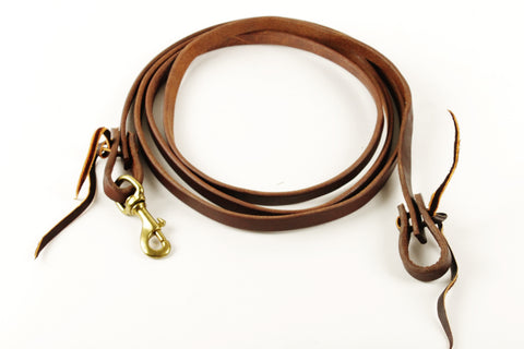 "5/8"" Harness Leather Roping Rein"