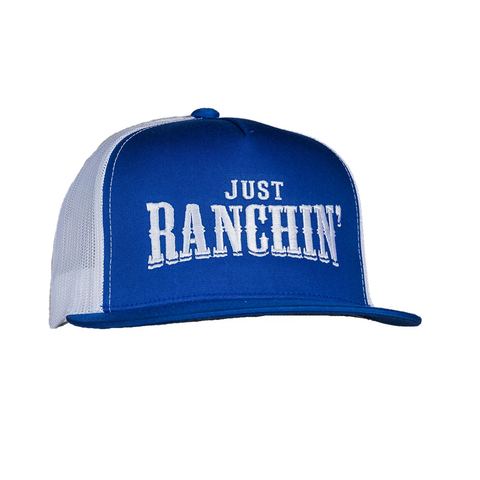 Blue and White Just Ranchin' Flatbill