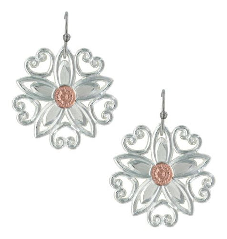 Montana Silversmith Silver Floral Earrings