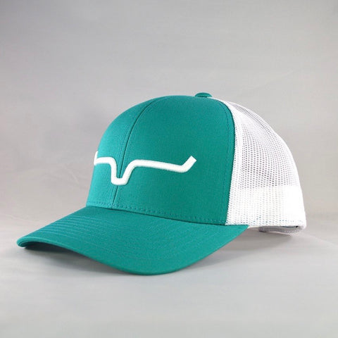 Weekly Trucker - Teal/White