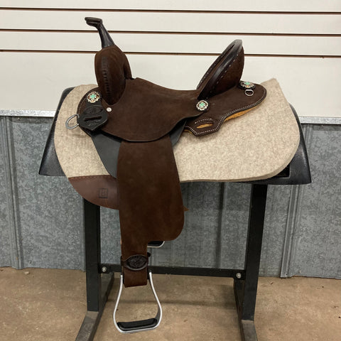 "13.5"" Double J Feather Lite Barrel Saddle"