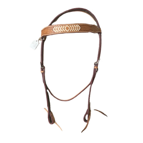 Basket weave / Rawhide Browband Headstall