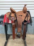 "12"" Heart of Texas Seat Rig Buckaroo Saddle"