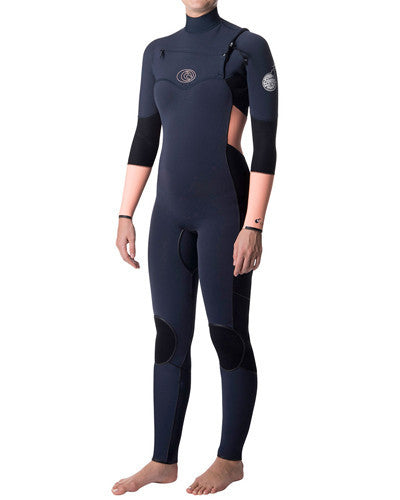 Rip Curl Women's Flashbomb 4/3 Chest-Zip Full Suit