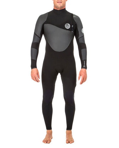 Rip Curl Men's Flashbomb Heat Seeker 4/3mm Zip Free Full Suit