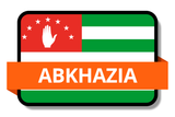 Abkhazia State Flags Stickers