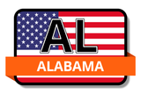 Alabama State Flags Stickers