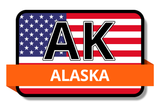 Alaska State Flags Stickers