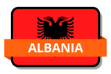 Albania State Flags Stickers