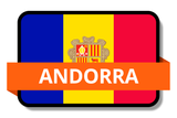 Andorra State Flags Stickers