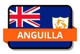Anguilla State Flags Stickers