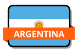 Argentina State Flags Stickers