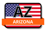 Arizona State Flags Stickers