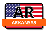 Arkansas State Flags Stickers