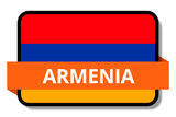 Armenia State Flags Stickers